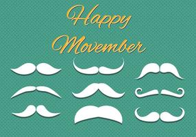 Gratis Happy Movember Vector