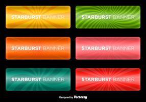 Banners de Starburst Vector