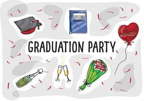 Ícones de vetores de graduação grátis