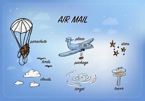 Vector libre del correo aéreo