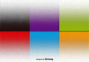 Vector Halftone Backgrounds Set