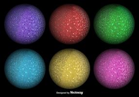 Abstract Vector 3D Sphere Disco Balls