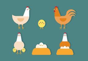 Vector de pollo