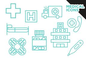 Medizinische Icons Flat Vector Free