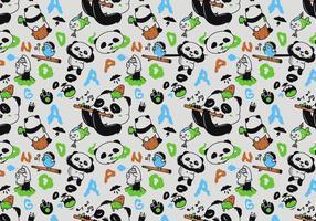 Vector patrón de panda sin fisuras