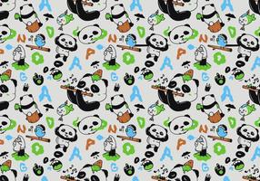 Vector Naadloze Panda Patroon