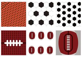 Vetor de textura Footbal