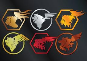 Winged Lion Vector
