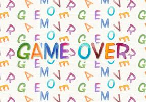 Game Over Watercolor Vector Background