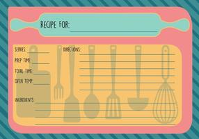 Vector de carte de recette gratuite