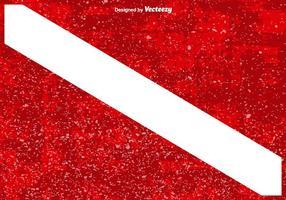 Bandeira de mergulho com texturas de sobreposição de grunge