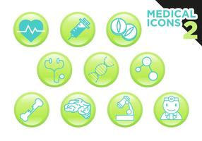 Vector d'icônes médicales gratuit