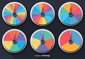 Vector Colorful Wheels Of Fortune Set