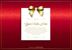 Gratis Luxury Vector Card