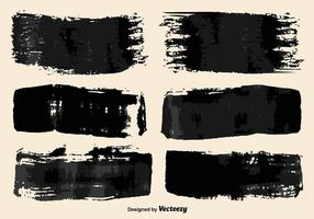 Vector Black Paint Brush Strokes