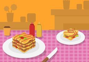Vecteur de lasagnes gratuit 2