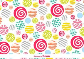 Vector Colorful Background With Hand-Drawn Decorative Elements