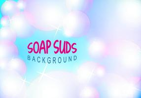 Soap Suds Bubbles Background Vector Illustration