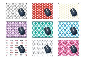 Vecteur modèle de tapis de souris