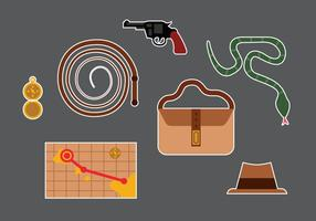 Indiana Jones Vector Elements