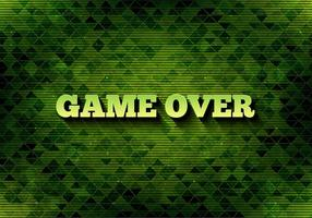 Vector Pixel Message: Game Over