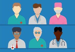 Doktor och sjuksköterska vektorer