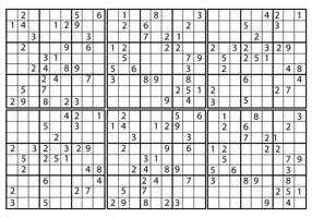 Freier Sudoku-Vektor