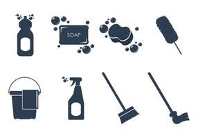 Cleaning Tools Icon Vectors