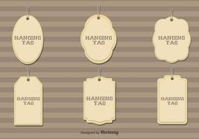 Set Of 6 Vector Hanging Cardboard Tags