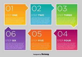 Colorful Vector Number Options Cards
