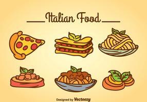 Italiensk mat Vector