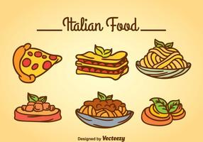 Comida italiana vectorial