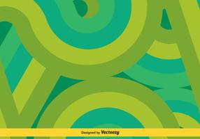 Vert / Turquoise Swishes Vector Background