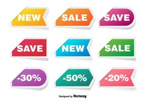 Colorful Discount Labels Vector Set