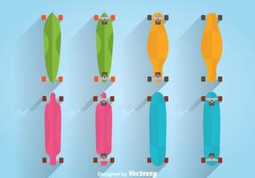 Vetor Longboard Colorido