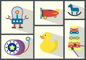 Toy Collection Vector Background