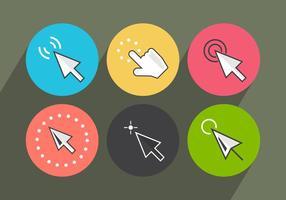 Maus klicken Sie auf Vektor-Icons