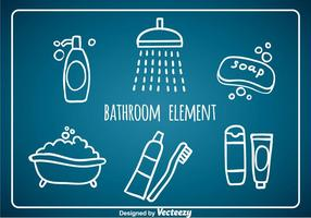 Bathroom Element Hand Draw Icons