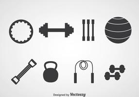 Fitness Silhouette Icons vector
