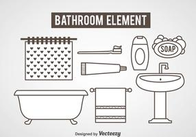 Bathroom Element Icons Vector