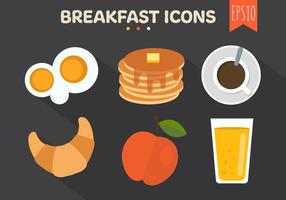 Fundo dos ícones do café da manhã