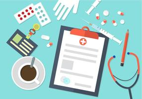 Fondo médico plano del vector
