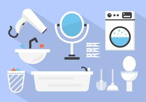 Fondo del vector del cuarto de baño