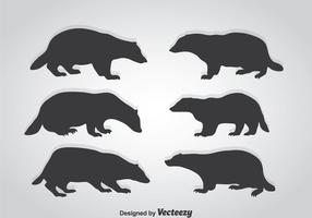 Honey Badger Silhouette Vector