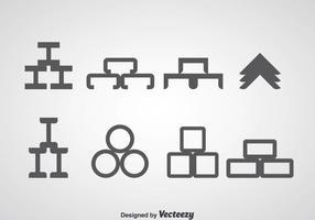 Iconos de haz de acero