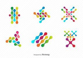 Nanotechnologie Vektor Symbole gesetzt