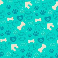 Vector de fondo con decorativos Puppy Icons