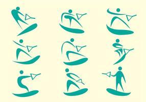Water skiën vector