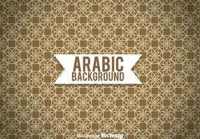 Arabic Ornament Brown Background
