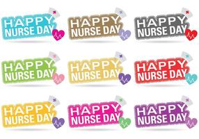 Nursery day vector titles